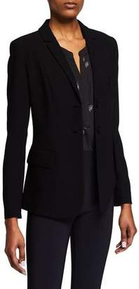 Elie Tahari Rane Button-Front Asymmetric-Peplum Jacket