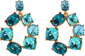 Oscar de la Renta Bold Crystal Circle Earrings