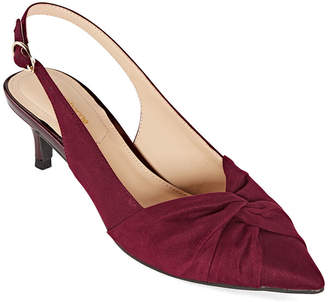 Liz Claiborne Womens Quinlee Pumps Slip-on Pointed Toe Spool Heel