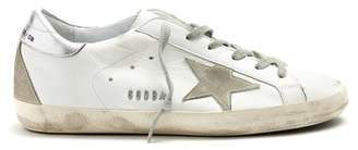 Golden Goose Super Star Low Top Leather Trainers - Womens - White Silver