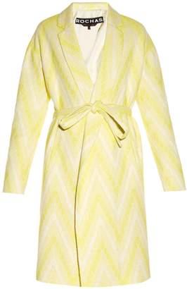 ROCHAS Chevron-jacquard tie-waist coat