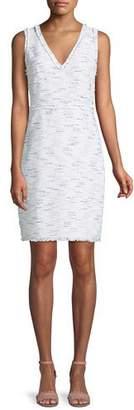 Kate Spade Multi-Tweed V-Neck Sheath Dress