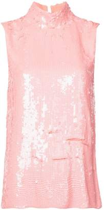 Tibi sequins turtle neck top
