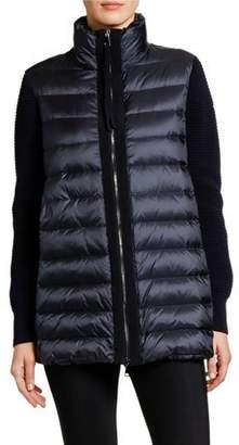 Moncler Wool & Puffer Cardigan