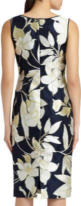 Lafayette 148 New York Rebecca Floral-Print Sheath Dress, Multi