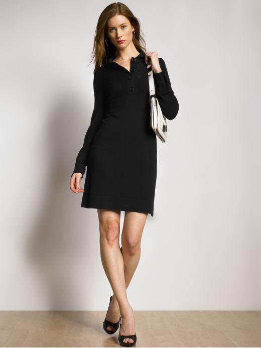 Wool/silk sweater dress