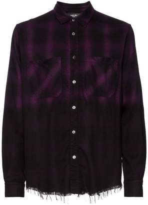 Amiri check print ombre shirt