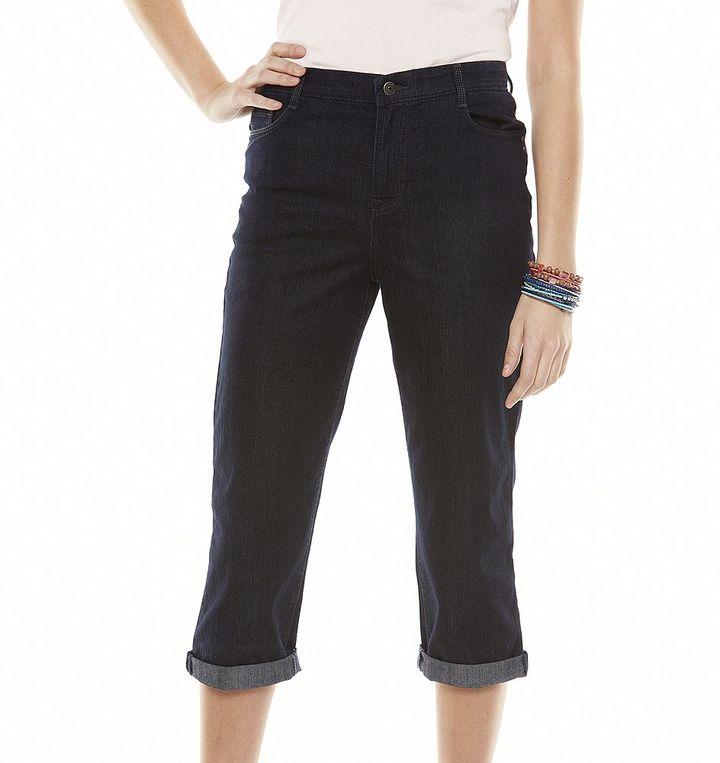 Gloria Vanderbilt gloria comfort waist cuffed denim capris - women's