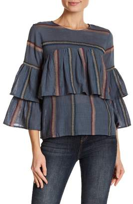 Always & Forever Multi-Stripe Embroidered Blouse