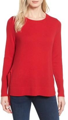 Women's Halogen Side Tie Cashmere Sweater $129 thestylecure.com