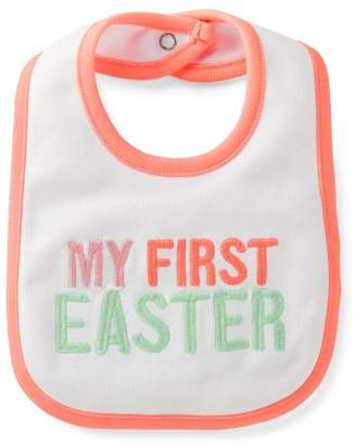 Carter's Unisex Holiday Teething Bib (My First Easter (Girl)) by