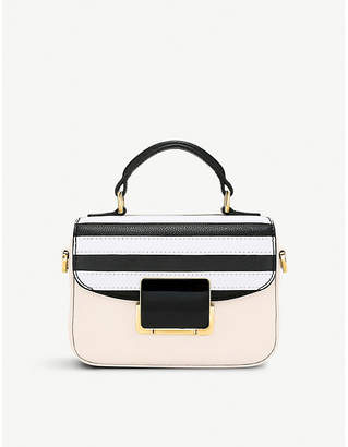 Folli Follie Club Riviera small striped leather handbag