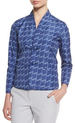 Armani Collezioni Reversible Long-Sleeve Blazer, Astral Blue $995 thestylecure.com