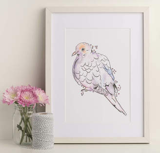 Pigeon North and Fauna Pastel Art Print