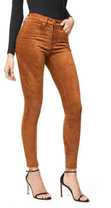Good American Good Waist Sueded Skinny Jeans - Inclusive Sizing