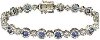 LeVian Suzy Diamonds Suzy 18K & Silver 7.26 Ct. Tw. Sapphire Tennis Bracelet