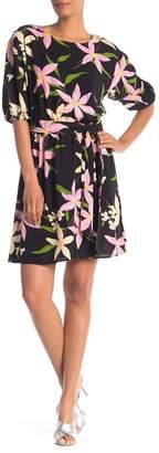 Vanity Room Floral 3/4 Sleeve Dress