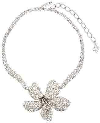 Oscar de la Renta embellished flower necklace