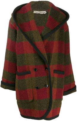 Guy Laroche Pre-Owned 1980s checked hooded coat
