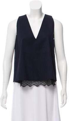 Hache Striped Sleeveless Top