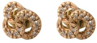 H.Stern 18k Rose Gold Diamond Knot Earrings