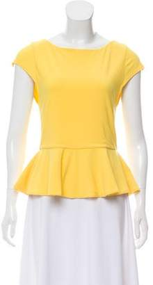 Alice + Olivia Short Sleeve Peplum Top
