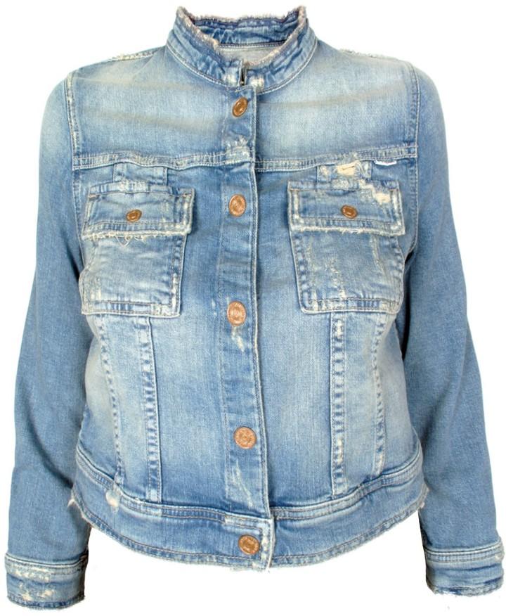 Mother Crop Jean Snap Jacket