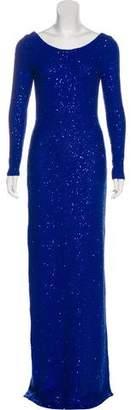 Oscar de la Renta Sequin Evening Dress