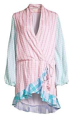 Rococo Sand Women's Plaid Short Wrap Dress