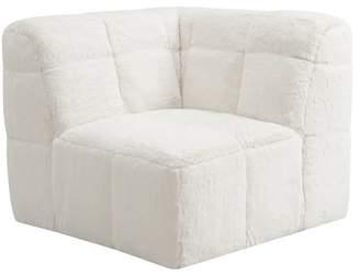Pottery Barn Teen Baldwin Lounge Corner Chair, Polar Bear Faux-Fur, IDS