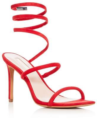 AVEC LES FILLES Women's Joia Suede Ankle Wrap High Heel Sandals