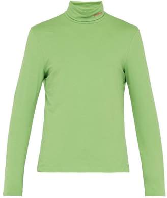 Calvin Klein Roll Neck Cotton Blend Top - Mens - Green