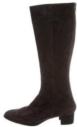 Manolo Blahnik Suede Knee-High Boots