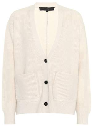 Cotton and cashmere cardigan