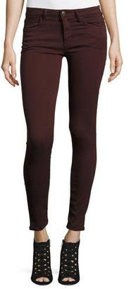 Joe's Jeans The Icon Ankle Skinny Jeans, Dark Wine $168 thestylecure.com