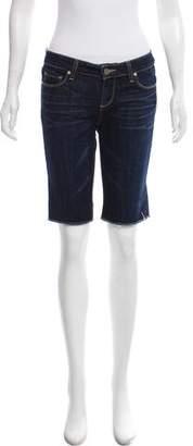 Paige Low-Rise Denim Shorts