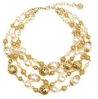 Ben-Amun Jewelry Ball and Pearl Multi-Strand Statement Necklace