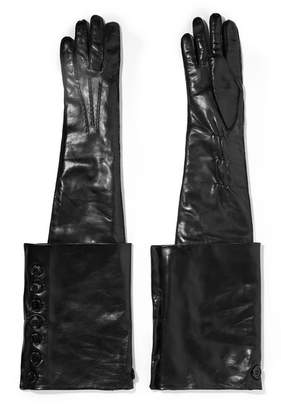 Ann Demeulemeester Leather Gloves - Black