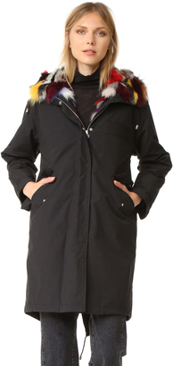 Army By Yves Salomon Fishtail Parka with Fur $3,415 thestylecure.com
