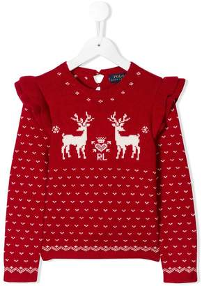 Ralph Lauren Kids long-sleeve intarsia knit sweater