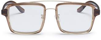 Lau PERCY x JINNNN double rim acetate square optical glasses