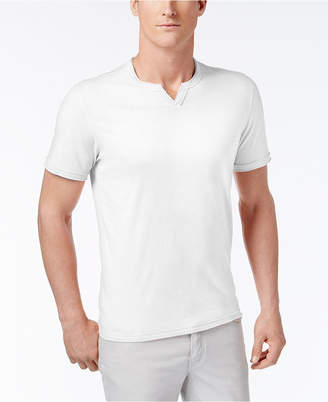 INC International Concepts I.n.c. Men Soft Touch Split-Neck T-Shirt
