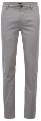 BOSS Hugo Slim-fit chinos in micro-pattern stretch cotton 38/34 Black