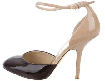Stella McCartney Patent Leather Ankle Strap Pumps
