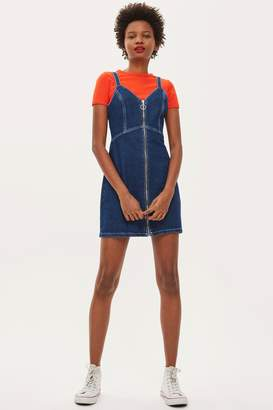 Topshop Indigo Denim Bodycon Dress