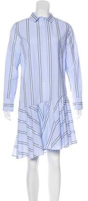 Brunello Cucinelli Embellished Button-Up Shirtdress w/ Tags