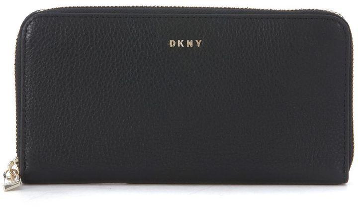 DKNYDkny Large Black Leather Wallet