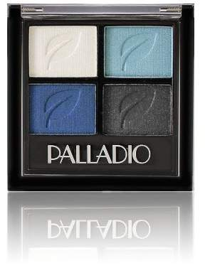 Palladio Eyeshadow Quad, Blue Suede, 0.02 Ounce by