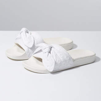 Cotton Lace Slide-On
