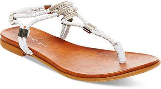 Madden Girl Flexii T-Strap Flat Sandals $39 thestylecure.com